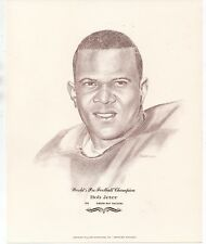 Large 1960s Print of NFL Champion Green Bay Packers Player Bob Jeter