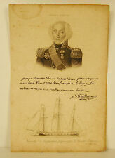 Jean-Baptiste Philibert Willaumez Vice Amiral Breton autographe vers 1810