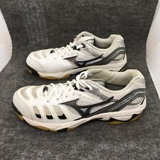 Mizuno Wave Rally  White Black Volleyball Shoes size 8 Sneakers Womens 9kv-18709