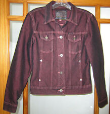 Guess Jean Jacket Women's Small Burdundy Red