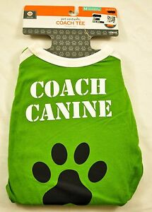 dog Coach Tee custome size XL green one piece fits up to 100 pounds