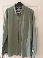 mens superdry green check shirt large