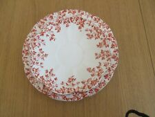 WILEMAN FOLEY SHELLEY Side Plates & Saucers RED IVY PATTERN.