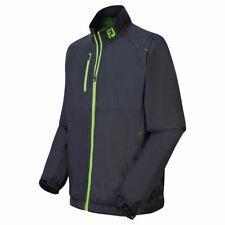 FootJoy Mens Hybrid Thermal Fleece Full Zip Jacket (Black/Fresh Green)