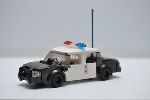 Custom Police Car Cop Black and White Crown Victoria Model Built with Real LEGO