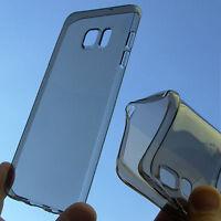 custodia in silicone TPU cover trasparente fumè per Samsung Galaxy S6 Edge+ G928