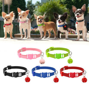 Suede Kitten Cat Breakaway Collar with Bell Safety Quick Release for Pet Puppy