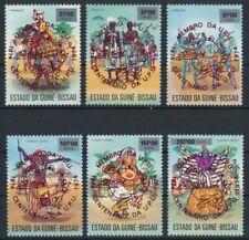 Guinea-Bissau 1976 Mi.Nr.374-379b (roter Aufdr.) postfrisch**