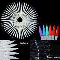40PCS False Nail Tips Acrylic UV Gel Display Fan Swatches DIY Manicure Tool