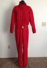 FERA Women's Size 4 Skiwear Nylon Ski Snowsuit Red Color SXS