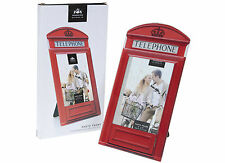 """RED TELEPHONE BOX PHOTO PICTURE FRAME FOR SINGLE 4"""" X 6""""  PHOTOGRAPH - BOXED"""