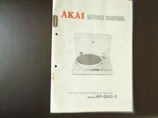 Original Service Manual Schaltplan AKAI AP-Q80/C