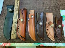 Six New Leather Sheath for Fixed Blade Knife