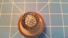 VINTAGE CRYSTAL CLEAR  RHINESTONE COSTUME RING STRETCH  SILVER PLATED