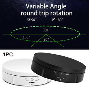 360° Rotating Display Stand Electric Turntable Jewelry Photography Show Holder
