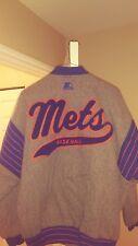 New York Mets Throwback Baseball Script Wool Varsity Starter Jacket Large