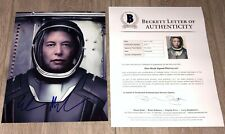 ELON MUSK SIGNED AUTOGRAPH TESLA SPACEX 8x10 PHOTO w/EXACT PROOF BECKETT BAS LOA