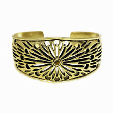 $39 Lucky Brand Antiqued Gold Tone Floral Cutout Cuff Bracelet