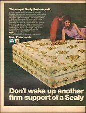 SEALY Posturepedic Mattress VINTAGE AD CHARLIE/'S ANGELS 1972 SHELLEY HACK