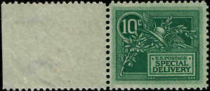 #E-7 1908 10 CENT SPECIAL DELIVERY ISSUE MINT-OG/NH--VF/XF 1996 PF CERTIFIED
