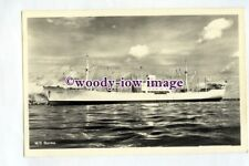 pf0320 - Swedish East Asia Cargo Ship - Burma , built 1952 - postcard