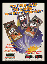 1983 ATAR! Star Wars RETURN OF THE JEDI Store Display MOVIE POSTER EARLY GAMING!