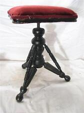 Antique Victorian Wooden Piano Stool Tonk Cast iron Riser Organ