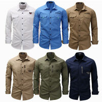 Luxury Men Casual Slim Fit Long Sleeve Work Dress Formal Business Shirts Tops