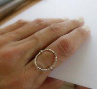 Circle Ring Sterling Silver Womens Rings Handmade Jewelry ug48