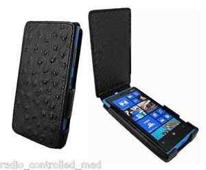 NEW Piel Frama iMagnum Leather Case for Nokia Lumia 920 - Ostrich Black RRP £110