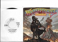 MOLLY HATCHET * 45 * Stone In Your Heart * 1984 * VG++NM WHITE LABEL PROMO w PS