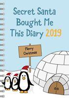 Secret Santa Diary Perfect Gift, Under £5, Secret Santa Present, 2019 Diary SS6