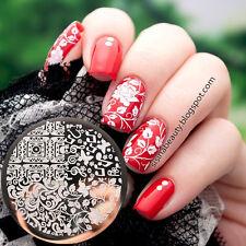 BORN PRETTY Nagel Stempel Schablone Nail Art Blume Stamping Template Plates DIY