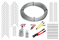 "Full Surface Mount Cable Railing Kit - 1000ft Cable, 3/16"" End Fittings, & Tools"