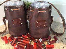 Leather Shotgun Shell Ammo Pouch/Shell Holder Bag Bucket Custom Made