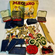 large lot of antique vintage meccano set parts 3 original manuals