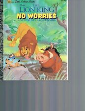 Little Golden Book The Lion King No Worries A New Story about Simba  HC 107-97