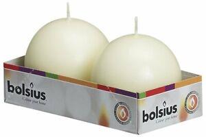 BULK BUY - BOLSIUS BALL CANDLES 70mm - WHITE or IVORY - HOME OR EVENT DECOR