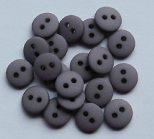 NEW PACK X 20 GREY MATT PASTEL DOME  BUTTONS SIZE 14 (9mm) BABY CRAFT SEWING