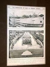 Seconda guerra mondiale 1915 - 1918 WW2 Costruzioni di navi in cemento armato
