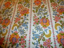 Vintage Stunning PINK, BLUE, YELLOW FLORAL Fabric (55cm x 50cm)