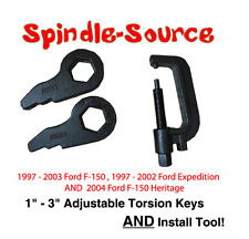 """97 - 03 Ford F-150 Expedition 1"""" 3"""" Torsion Keys Lifting Leveling + INSTALL TOOL"""