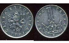 TCHECOSLOVAQUIE  1 koruna  1993   ( bis )