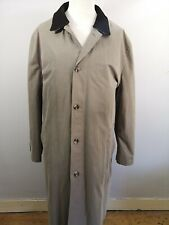 Lovely Mens M&S XL Collezione Trench Coat Rain Mac Stone Colour