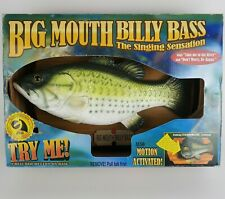 Big Mouth Billy Bass Motion-Activated Singing Fish WORKS Original Box 1998 Gemmy