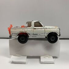 1980 HOT WHEELS-1/64 White Diecast-Ford Bronco Pick-Up Truck Used
