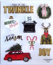 Retro Turn On The Twinkle Christmas Tree On Car PS Clear Stickers