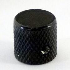Metal Knurled flat top control knob black