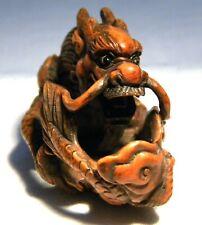 More details for netsuke  carved boxwood   dragon
