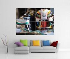 Lewis hamilton toile F1 formula one mercedes géant art imprimé photo pic poster